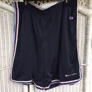 Vtg Champion USA Mini Script Athletic Gym Shorts